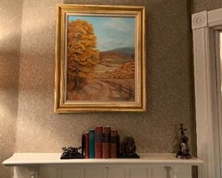 """AFTER: Wonderful Oil on Canvas """"The Fall Harvest"""""""