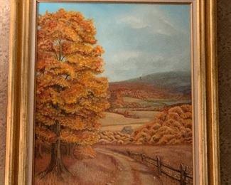 Large Oil Painting / Diana Miller- Student, school of Frank Nuderscher