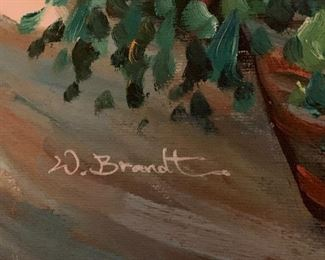 Oil Painting signed by W. Brandt