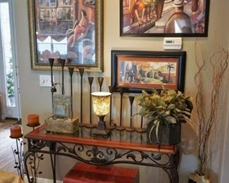 Home decor and Didier Lourenco artwork
