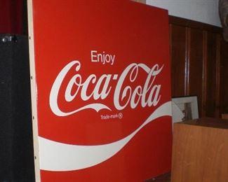 4' square metal Coca-Cola sign