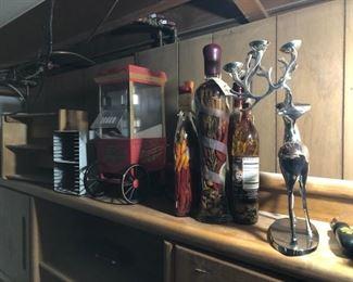 Deer candle holder, oil preserve popcorn maker