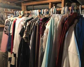 Vintage clothing -- two racks