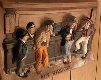 Ceramic bar scene