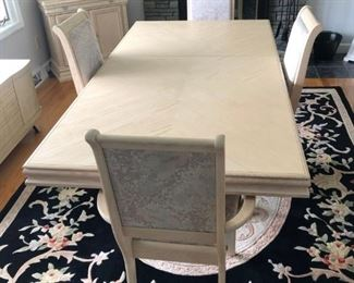 Dining table over nice room size carpet