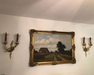 Oil painting of rural Italy by Helmut Reuter