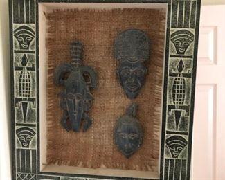 Shadow box with figurines
