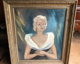 Portrait--oil on canvas with nice frame