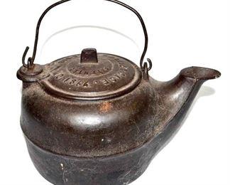 PATD. 1866 - CHARLES GAGE CAST IRON TEA KETTLE