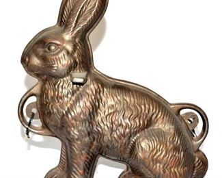 GRISWOLD #862 CAST IRON RABBIT CAKE MOLD