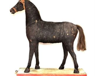 Antique Sawdust Toy Horse on Rollers