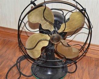 Antq. Emerson Brass Blade Fan