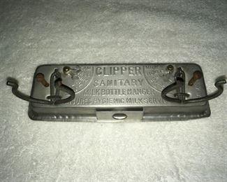 CLIPPER SANITARY MILK BOTTLE HANGER-Super Rare