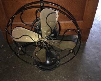 Antq. GE Brass Blade Fan