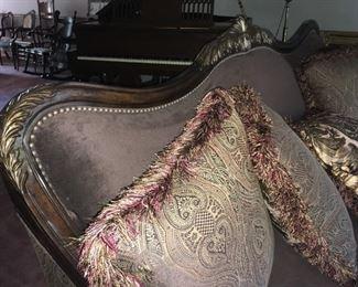 Ornate Trim on Modern Markor (Import) Sofa