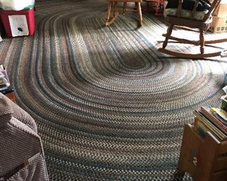 Large braided rug with additional matching sizes!