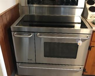 "Kenmore Elite 40"" Glass top Double side oven in Stainless Steel. Like new!"