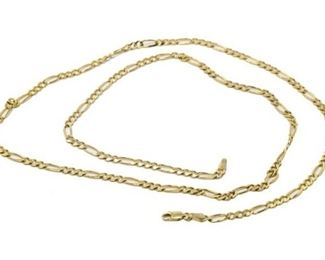 8. 30 Inch 14K Yellow Gold Necklace