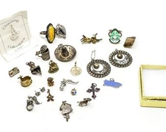 46. Misc. Lot Sterling Silver Jewelry