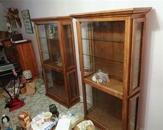 50. Set of Two Wooden Display Cases