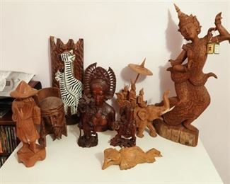 51. Lot of Wooden Figurines