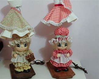 54. Set of Two Doll Lamps
