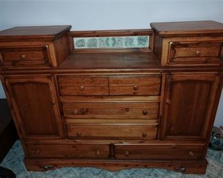 71. Wooden Server with Contents Included