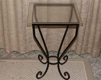 79. Glass and Iron plant stand