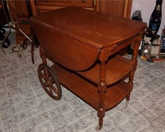 80. Colonial Style Serving Cart