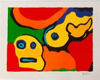 Karel Appel (Dutch, 1921-2006) Yellow Boy and Sun