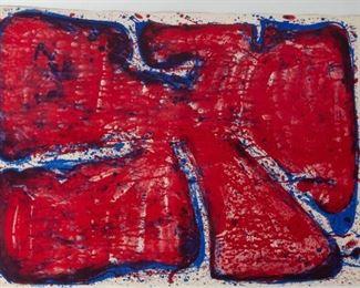 Sam Francis (American, 1923-1994) Blue Blood Stone