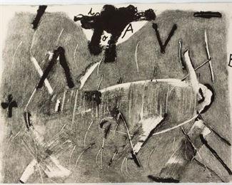 Antoni Tapies (Spanish, 1923-2012) Lletres Gris