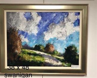 David Swanigan, oil on canvas