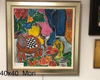 """Pierre Mori, """"Chess Board Still LIfe"""" c. 2015"""