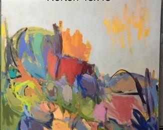 "Mary Norton, oil on canvas c. 1990 ""Desert Landscape"", Norton was a member of the Phoenix Artist's Guild"