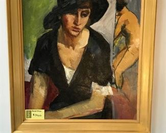 Grimmer, Portrait of the Artist's Sister, c. 1930, oil on canvas, 36 x 29 in. as framed