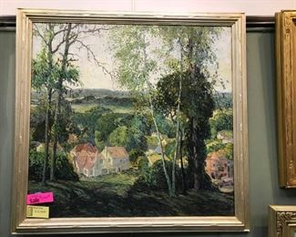 "H. Gilbert Foote, ""An American Landscape"" c. 1923, oil on canvas, 44 x 46 in. framed"
