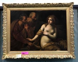 Susanna & the Elders, after Guido Reni, c. 1840, 42 x 52 in. as framed