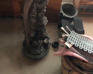 Concrete item and cedar chest