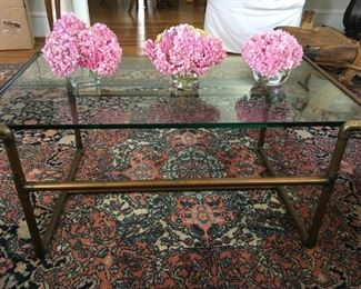 copper table and rug