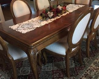 Fabulous Italian Dining Room Table with Six Chairs.
