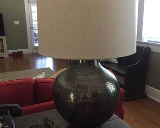 Modern lamp with shade.