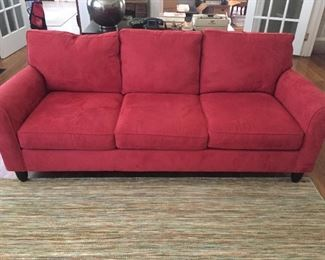 Nice Red Upholstered Sofa from Haverty's.