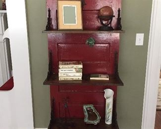 Repurposed Door Bookshelves.