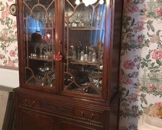 Mahogany China Cabinet, dining room 1920s