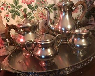 Vintage Tea Set Silver Plate