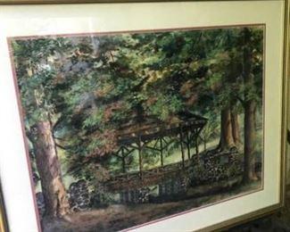 Backenstose Original Watercolor