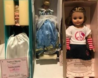 Five Collectible Dolls
