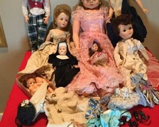 Large Lot of Vintage Dolls and Accessories