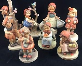 Lot of 8 Hummel Figurines  Polka Dot
